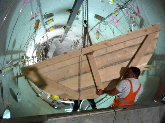 GAST experiment, Grimsel - Tunnel rail and casting